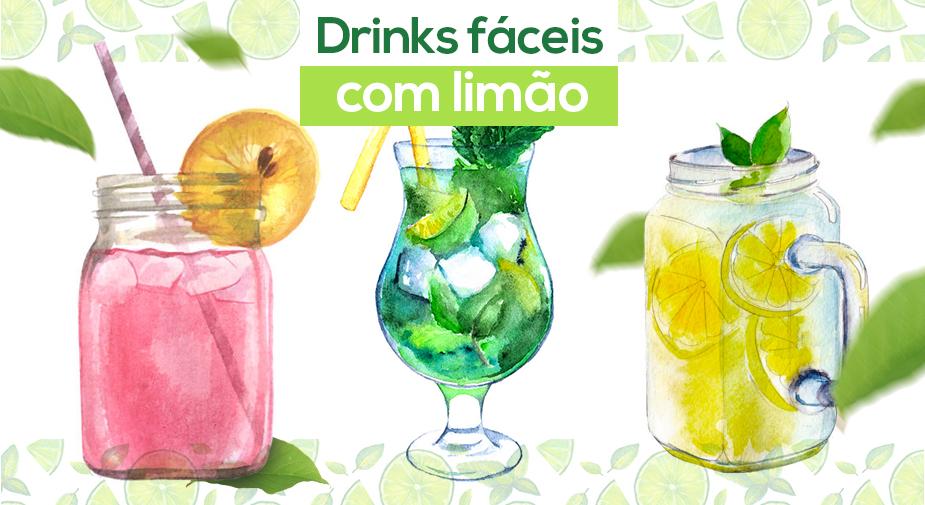 Drinks fáceis com limão