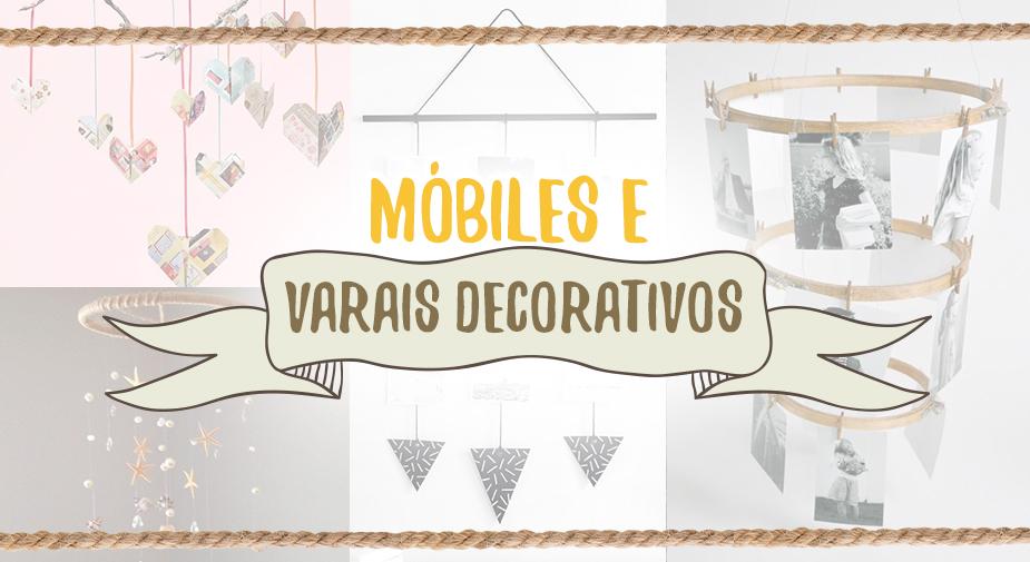 Decoração: Móbiles, Varal e Flower Wall