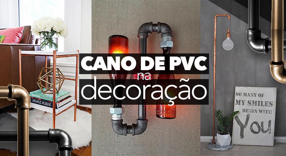 Decoração e ideias com canos de PVC e cobre