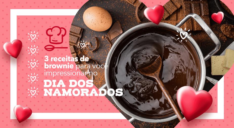 3 receitas de brownie para você impressionar no Dia dos Namorados